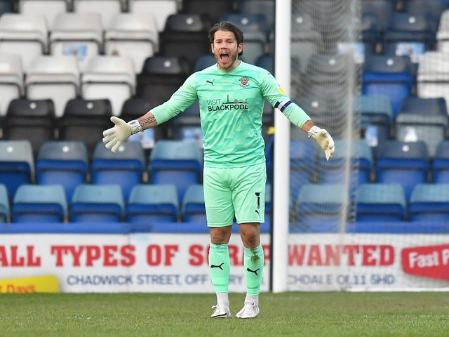 Chris Maxwell had no chance with Rochdale's winning goal