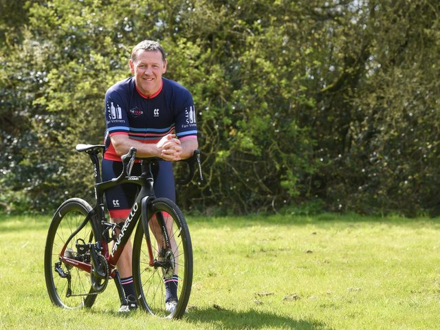 Gary Apps is taking on the actual route of the Tour de France cycle event to raise money for charity