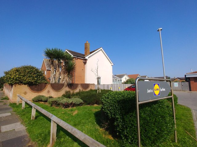Anchorsholme Lidl wants to knock down two houses to extend its car park. Photo: Daniel Martino for JPI Media