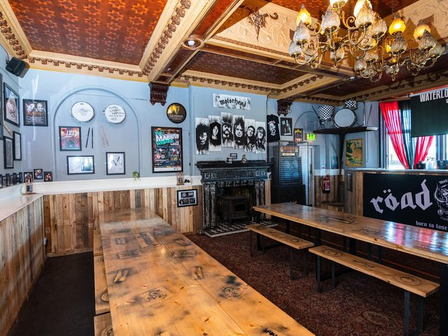The lounge in the Waterloo Music Bar has been completely revamped for when the venue reopens. Photo: Kelvin Stuttard
