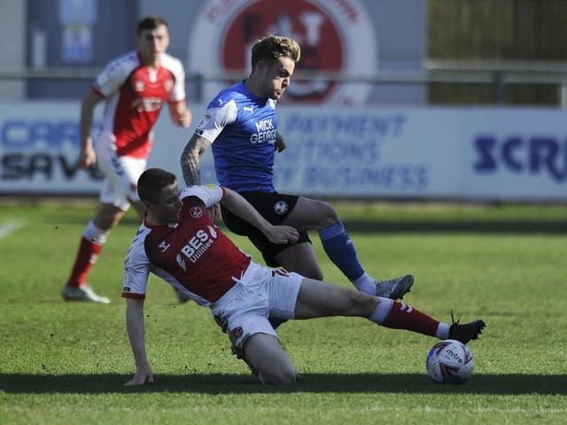 Fleetwood Town midfielder Jordan Rossiter has been in the wars Picture: Greig Bertram/PRiME Media Images Limited