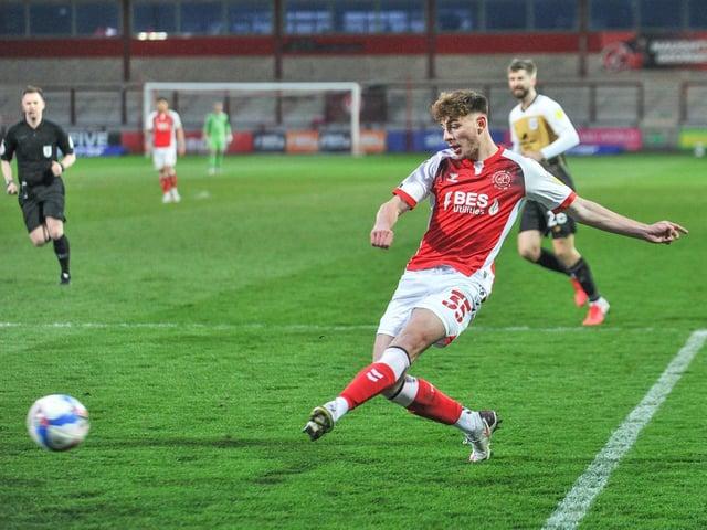 Ryan Rydel in action against Crewe Alexandra in midweek.