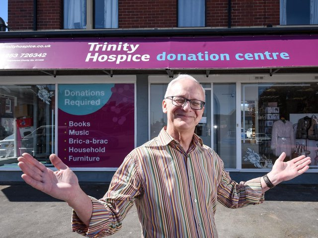 Trinity retail manager Paul Guest at the new shop and donation centre