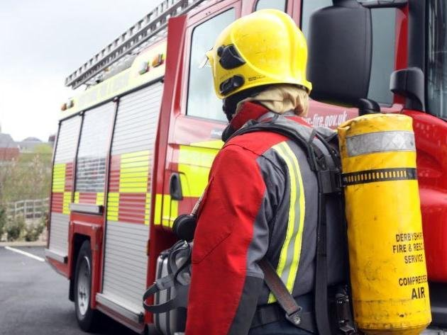 The fire service were called to the property at 8pm