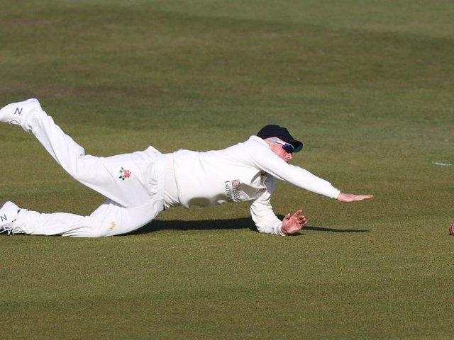 Lancashire's Matt Parkinson stretched himself in Kent, working hard in the field and putting in an epic bowling stint