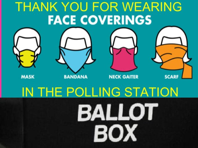 All voters will be required to wear a mask when they cast their ballot, unless they are exempt