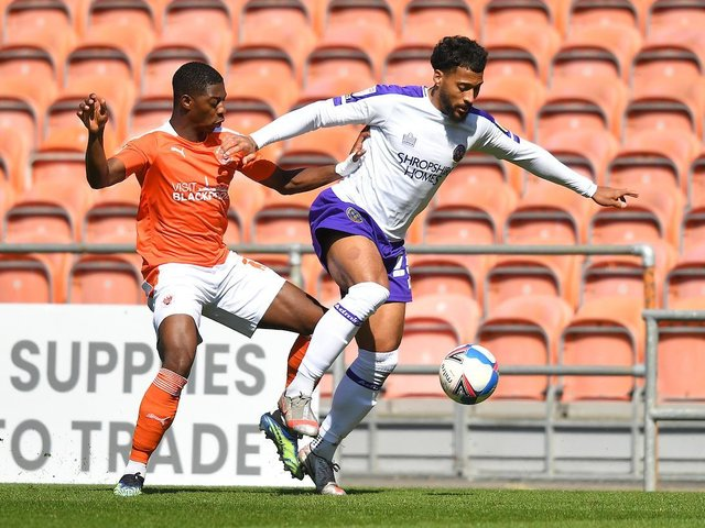 Sullay Kaikai looked the most likely to make something happen for Blackpool yesterday