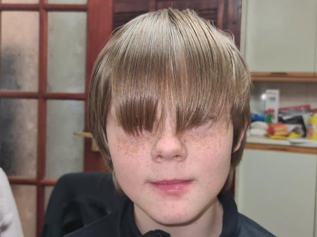 Corey Greenway, before his big head shave fundraiser