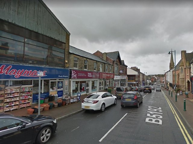 The fire involved the wooden fascia of a shop in Poulton Street, Kirkham at around 9.30pm last night (Monday, April 26). Pic: Google