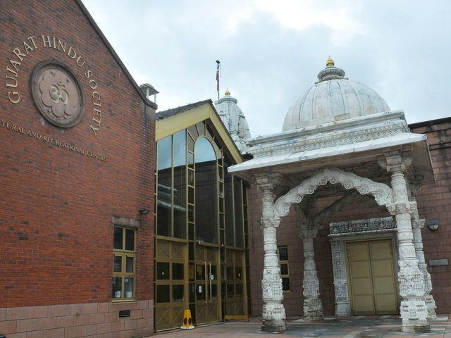 Preston Gujarat Hindu Society temple on South Meadow Lane, Preston