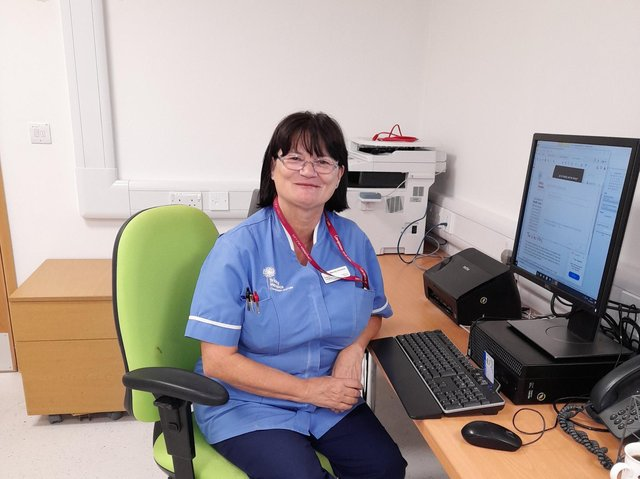 Mandy Greaves, 59, who is a Trinity Hospice Clinical Assistant based at Blackpool Victoria Hospital