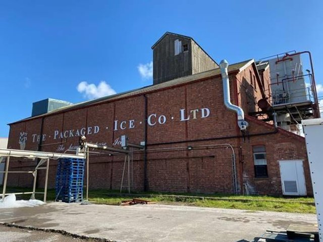 One of the buildings listed for sale at Fylde Ice in Fleetwood