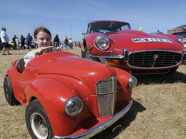 Fun for all the family at a previous Classic Car Rally on  Lytham Green