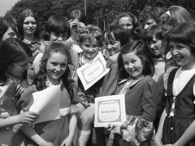 Children taking part in the annual Leyland Music Festival