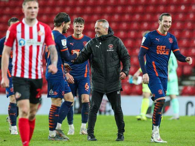 Blackpool go into tomorrow's game on the back of victory at Sunderland in midweek