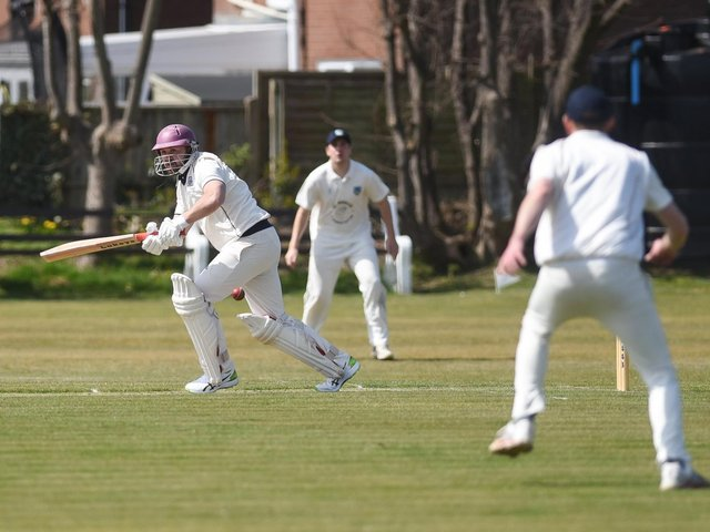 Luke Jardine scored 75 on his home debut for St Annes in their draw with Lancaster last Saturday
