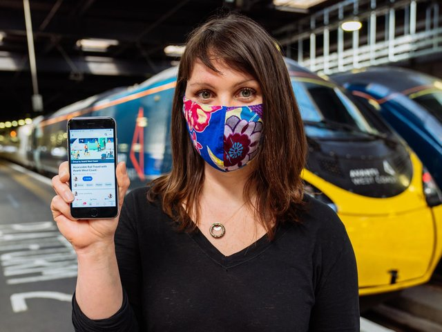 Emma Martell of Avanti West Coast with the new mobile phone forum for disabled travellers