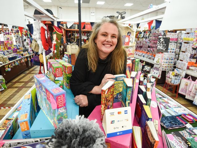 Michelle Brereton at her stall, the Bedtime Reading Club, in Fleetwood Market