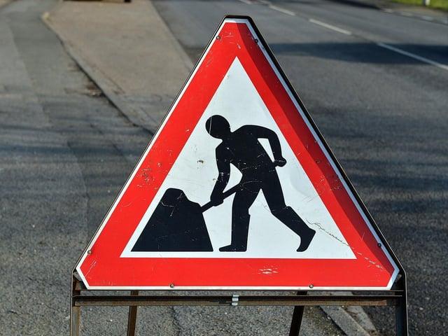 Roadworks are taking place next week