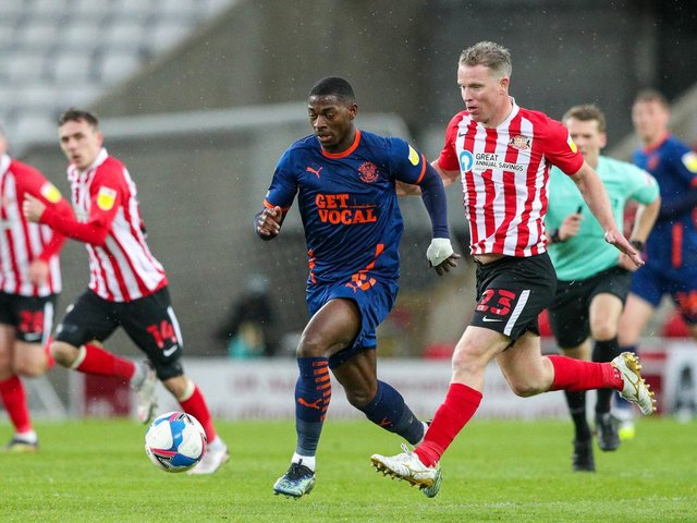 Sullay Kaikai has seven goals for Blackpool this season