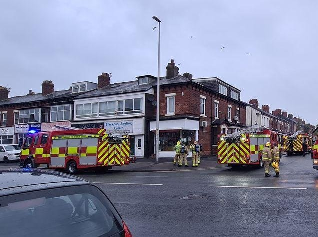 Fire engines from Blackpool, South Shore and Bispham rushed to Laine's Bakery, at the junction of Church Street and Oxford Road, after its oven caught fire at around 7.50pm yesterday (Monday, May 3). Picture by Steven King