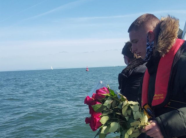 Ian Bragg's ashes were scattered at sea