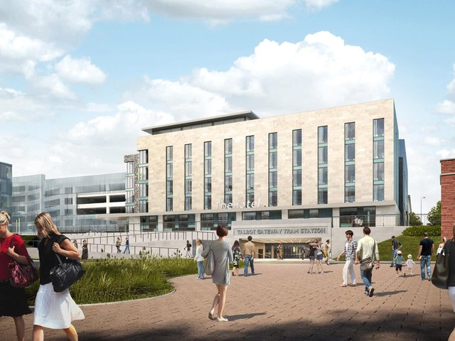 Artist's impression of the Holiday Inn being built in Blackpool.