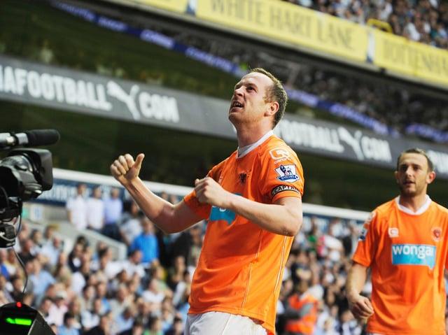 Charlie Adam celebrates scoring at White Hart Lane