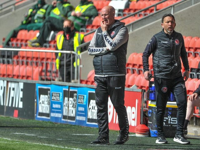 Simon Grayson has praised his Fleetwood Town players for their application Picture: Stephen Buckley/PRiME Media Images Limited