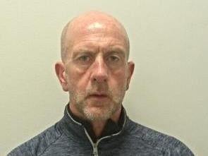Stephen Boyne (pictured) was handed a 35 week prison sentence and a restraining order, preventing him from contacting the woman. (Credit: Lancashire Police)