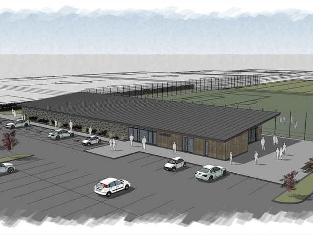Artist's impression of the sports facilities when the Blackpool Cup is staged next year