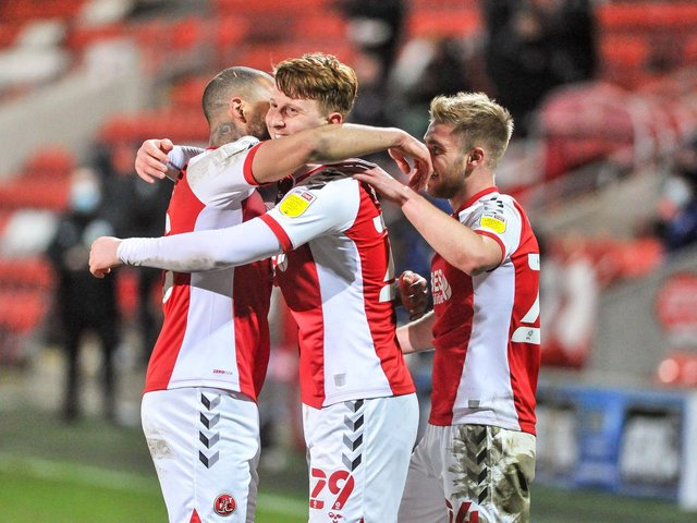Ged Garner scored against Ipswich Town when Fleetwood Town defeated them in March Picture: Stephen Buckley/PRiME Media Images Limited