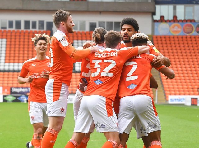 Ellis Simms' strike handed Blackpool a 1-0 win against Bristol Rovers on the final day