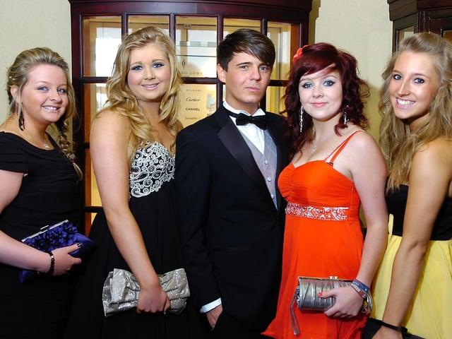King Edward Queen Mary 6th form prom 2011 Naomi Farrer, Leanne Owen, Jackson Millss, Sammy Gill and Mel Bentley