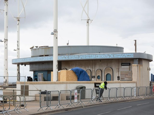 Cafe Cove transformed on Cleveleys Promenade.