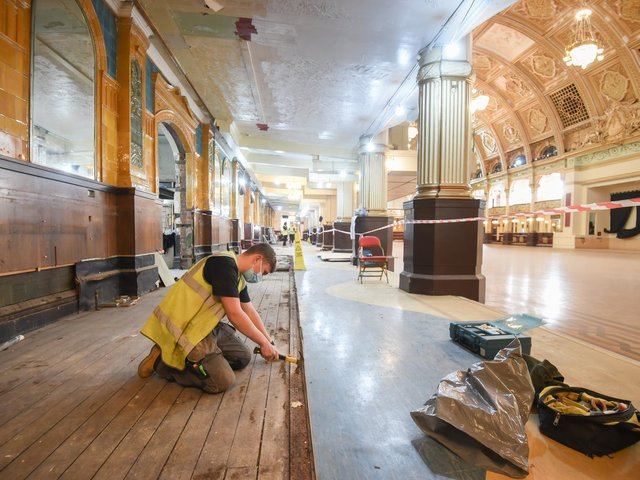 Staff prepare to reopen the Winter Gardens on May 17.
