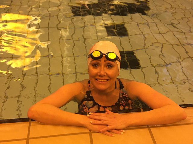 Catherine Cremona, from Bispham, is back swimming five times a week