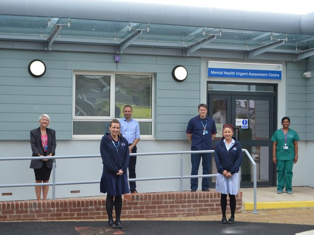 Blackpool Vic staff outside the new mental health emergency assessment centre at A&E