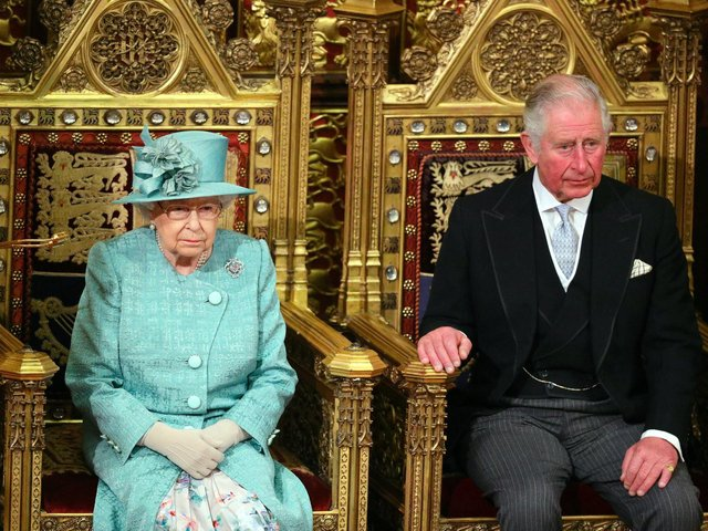 The Queen and the Prince of Wales at the ceremony to read the Queen's Speech