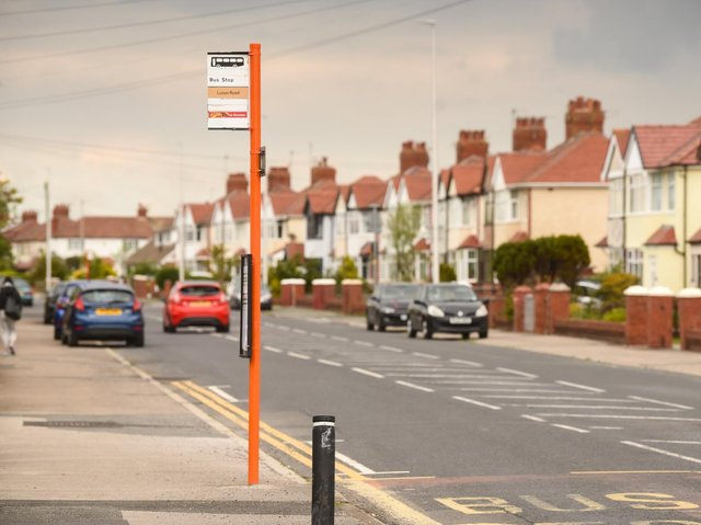Anchorsholme's bus stops have been painted tangerine, to reflect the town's colour and help those with visual impairments see the stops more clearly.