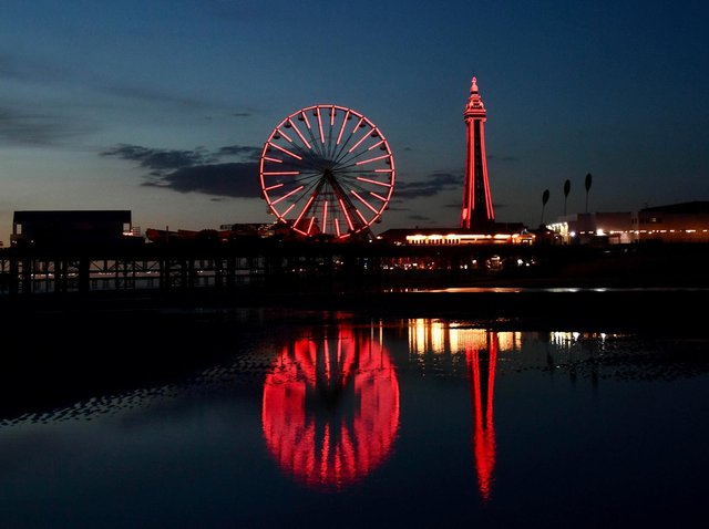 Blackpool Tower and the Illuminations were lit up in red for Jordan Banks last night (May 12), as the resort showed its solidarity with his grieving family and friends. Picture by Dave Nelson