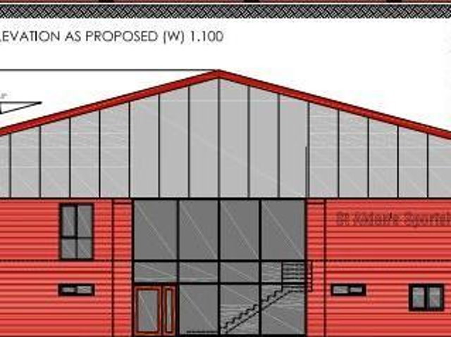 Design plans for the new sports hall for St Aidan's, expected to be ready by September 2022