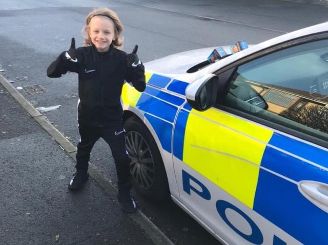 Police thanked Jordan for his gifts of sweets and chocolates during lockdown