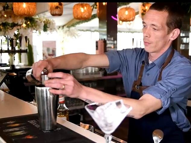 Mixologist at Bloom Bar Chris Davey serves up their most requested cocktail - the Pornstar Martini.
