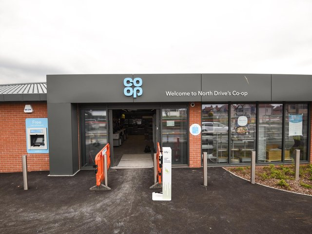 Anchorsholme's new Co-op food store on North Drive.