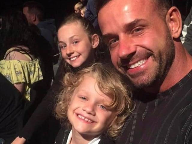 Jordan Banks with his dad Matt