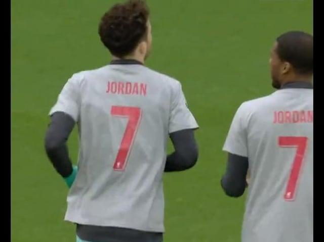Liverpool FC wore shirts in memory of Jordan