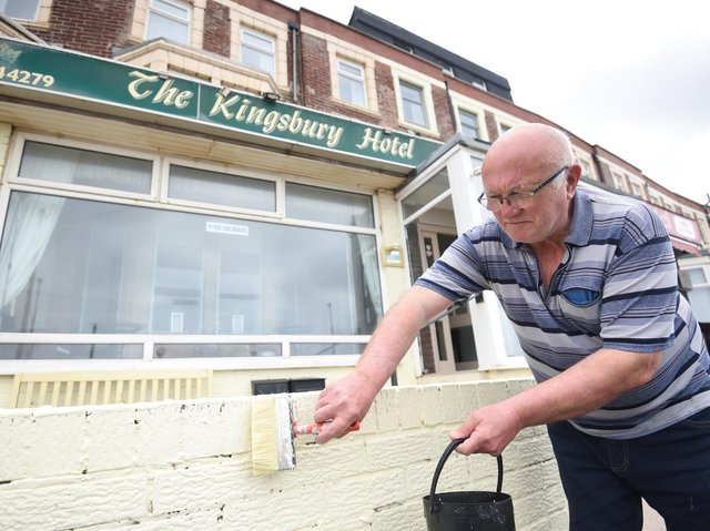 Peter Shaw getting the Kingsbury Hotel ready for reopening