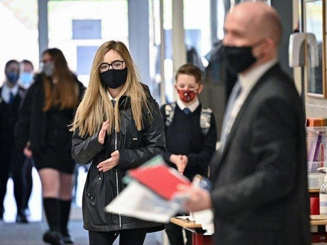 Blackpool Council is following the national policy on face mask in schools, which says that they will not be recommended from 17th May - but the situation is different across the border in Fylde and Wyre