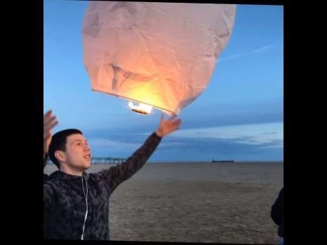 Marshall's family and friends released lanterns in his memory on the anniversary of his death, May 7